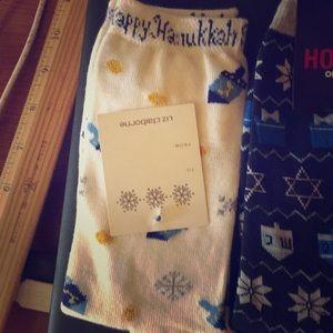 NWT 2 pair of ladies Hanukkah socks.